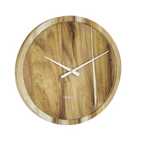 london clock company urban luxe cm pure  solid wood