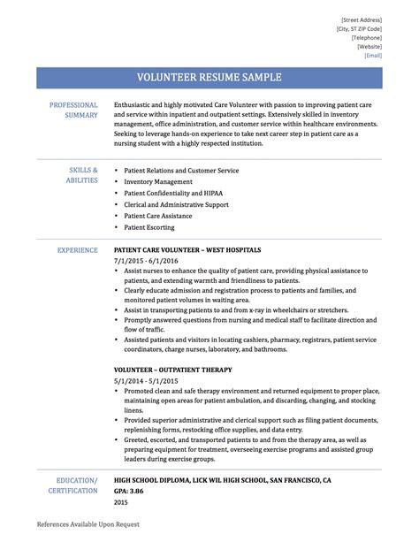volunteer work resume samples sample volunteer resume resume ideas