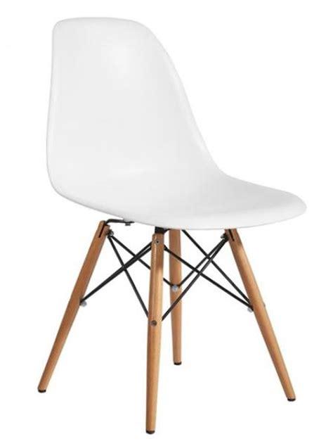 chaise lot de 6 lot de 6 chaises charles eames dsw blanc port discount