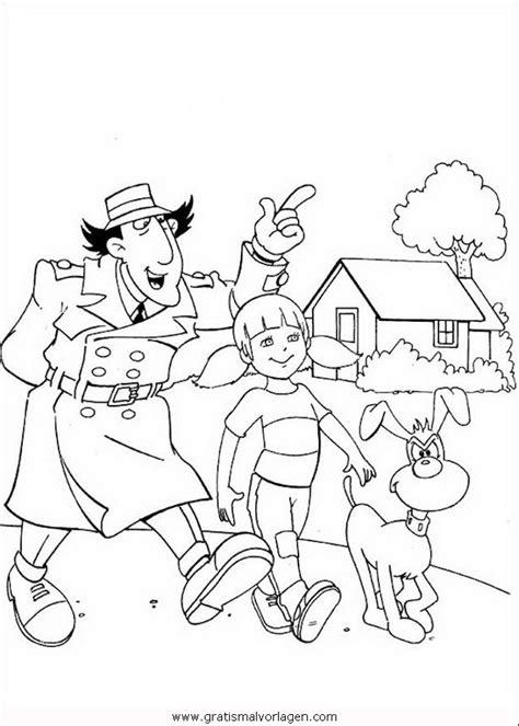 inspector gadget  gratis malvorlage  comic