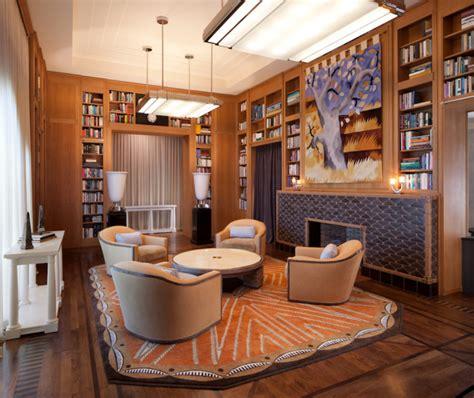 bel air  library contemporary living room los