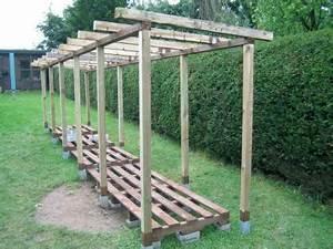 Holzunterstand Selber Bauen : dachsparren anbringen garten pinterest holzlager holzunterstand und brennholz ~ Whattoseeinmadrid.com Haus und Dekorationen
