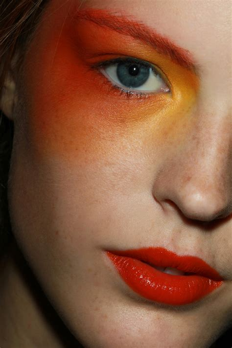 orange makeup   sweet