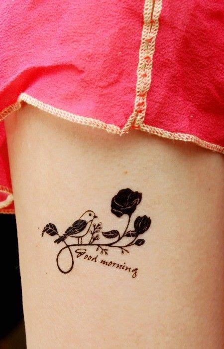 quote tattoo ideas  life cute quote good morning  bird tattoo  arm rat tat tat