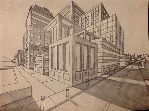 3d Perspective House Drawing Pencil,