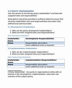 policy template 10 free word pdf document downloads With it policy template free download