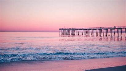 Sea Pier Surf Pink 1080p Background Fhd