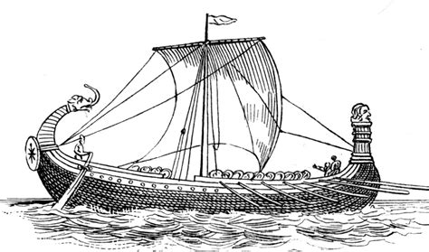 norman ship  bayeux tapestry clipart