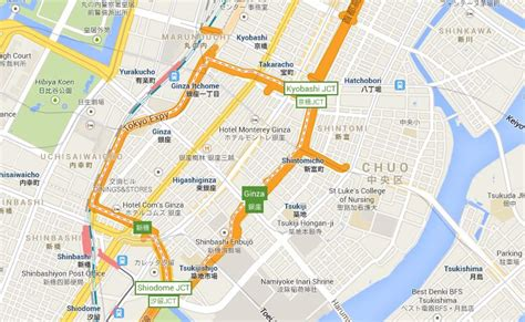 ginza area map
