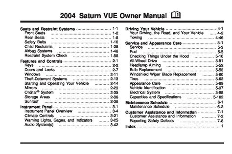 saturn vue owners manual  give   damn manual