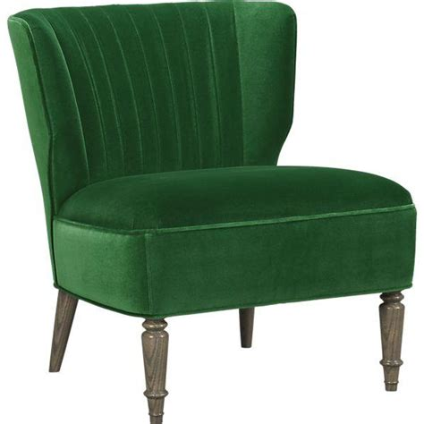 Emerald Green Accent Chair by Arietta Green Velvet Ribbed Back Chair