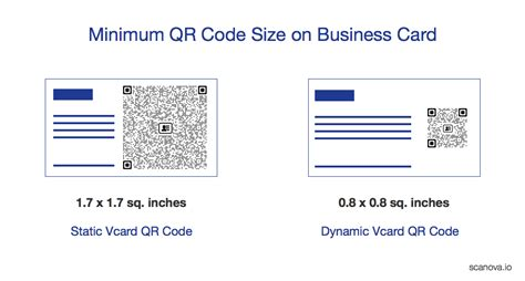qr code size business card find out the ideal size for
