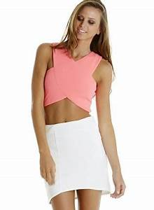 Retro Neon Pink Crop Top Top crop top pink sleeveless