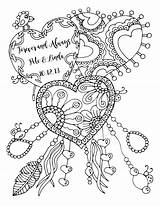 Coloring Pages Adult Anniversary Happy Forever Always Drawing Printable Quote Lukens Karen Colouring Heart Valentine Books Cool Colour Husband Sketch sketch template