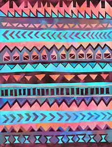 PATTERN {Tribal Stripe- Aqua} Art Print by Schatzi Brown ...