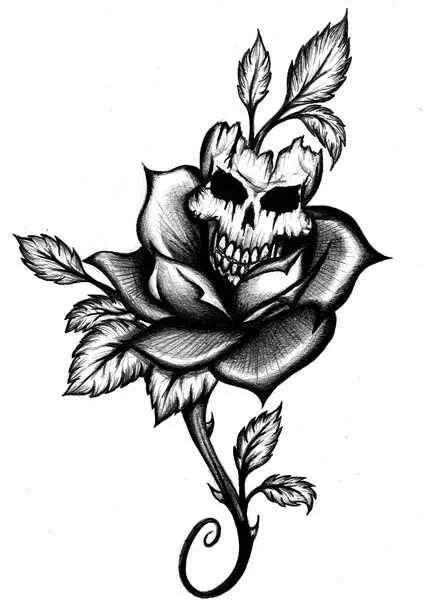 Pin by kassie hansen on doodles   Skull tattoo flowers, Tattoo designs, Skull tattoos