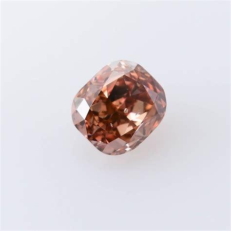 carat fancy deep pink brown diamond cushion shape