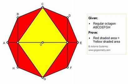 Octagon Area Regular Geometry 1430 Problem Figures