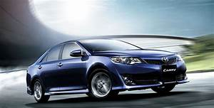 Latest Toyota Camry 2013 Blue Color Shape Wallpapers