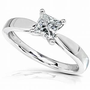 Diamond-Me Princess Cut Diamond Engagement Solitaire Ring ...