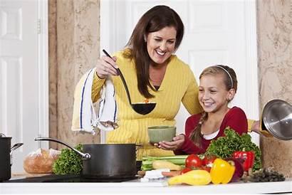 Kitchen Meal Daughter Soup Serving Mother Meals