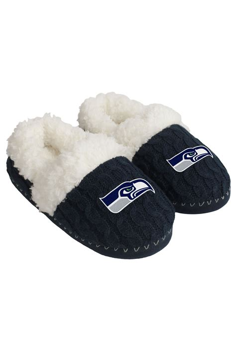 nfl seattle seahawks team color moccasins  women