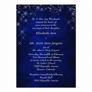 personalized night invitations custominvitations4ucom With starry night wedding invitations template