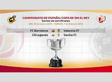 Resultado del sorteo de Semifinales de la Copa del Rey