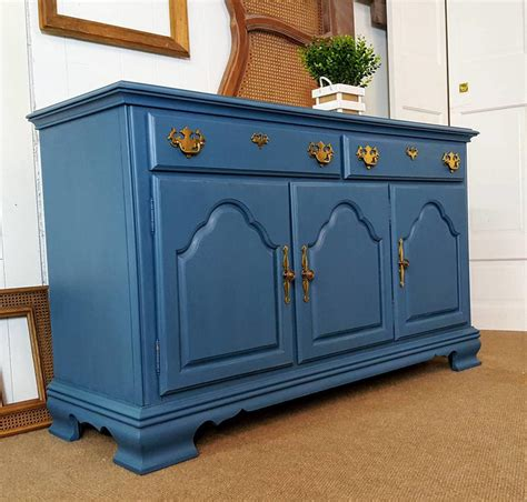 Blue Sideboard by Blue Sideboard Buffet Credenza Console By