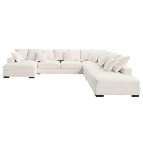 grand canapé d angle convertible 6 8 places canapé d 39 angle modulable 7 places en coton ivoire loft