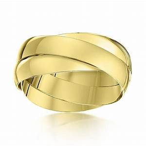 9kt yellow gold 4mm russian wedding ring With gold russian wedding ring