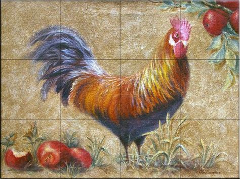 Farm Animal Wallpaper For Kitchen - 53 best rooster wallpaper tiles images on