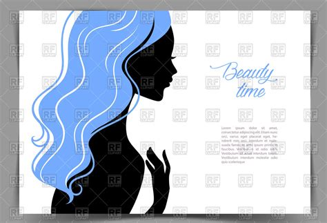 Silhouette Of Young Girl With Blue Hair Business Card With Own Logo Cards Free Uk Maker Laser Cut Watermark On Design Your Online Yellow Definition Software To