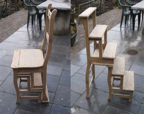 wood library step stool chair woodworking projects plans