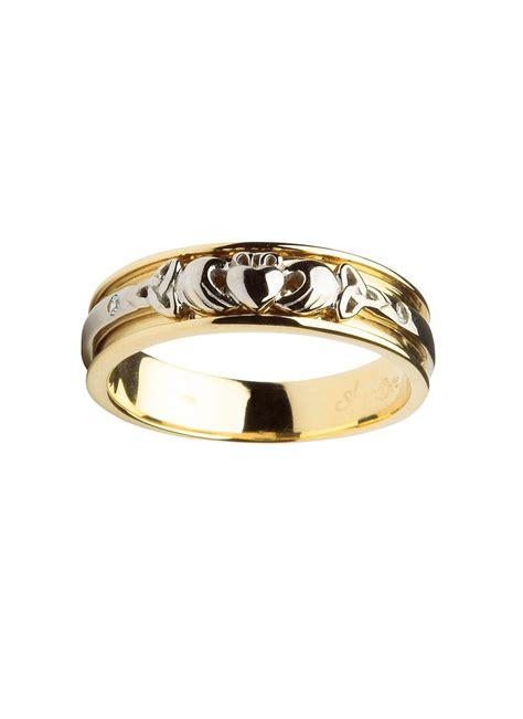 ladies 14k gold claddagh wedding ring blarney