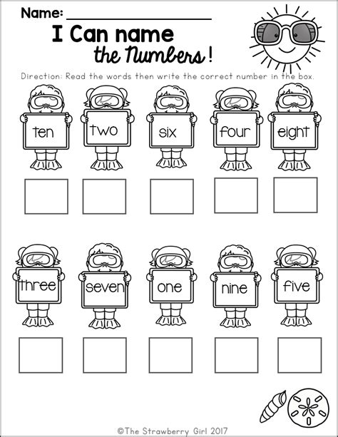 kindergarten math worksheets summer first grade