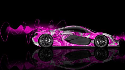 Free Cars Wallpapers Downloads Pink by Mclaren P1 Side Abstract Aerography Car 2014 El Tony