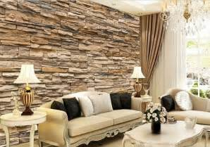 living room with brick wallpaper 3d wallpaper bedroom living mural roll modern faux brick stone wall background ebay