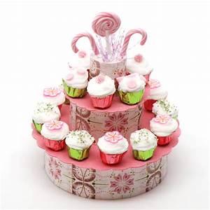 Pink Sucker and Candy Cupcake Display Stewart Dollhouse