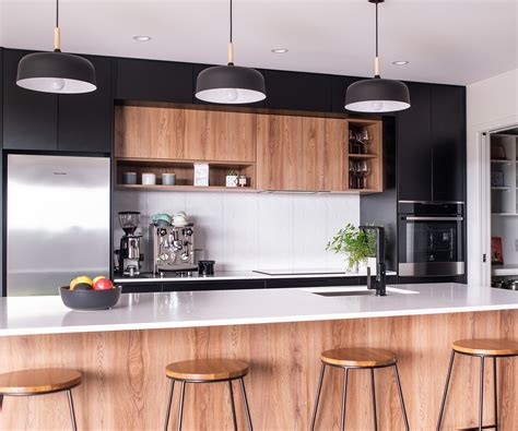 Black White Wood Kitchens by This Black And White Kitchen Was Designed For Entertaining