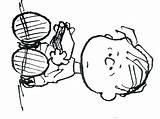 Coloring Peanuts Pages Linus Gang Printable Exit Drawing Snoopy Characters Getdrawings sketch template