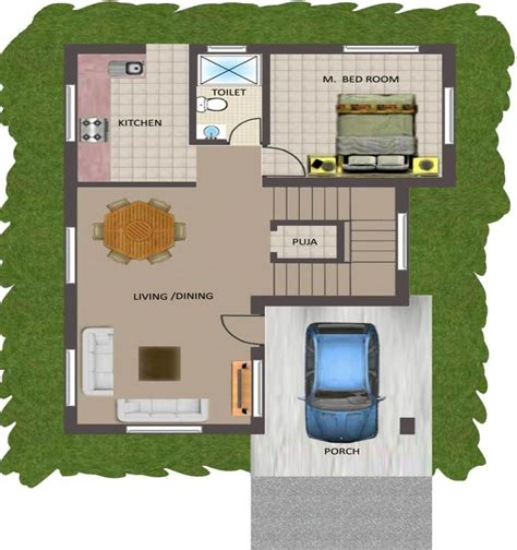 2 bhk house plan layout gallery with floor plans for small