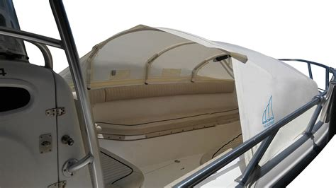 Boat Canopy Tent by Large Bow Dodger I Prefab Instant Cabin I Boat Shade