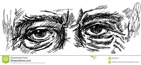 eyes   man  wrinkles stock vector image