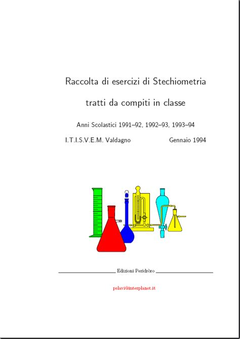 dispense chimica inorganica gianachille giuliani dispense di stechiometria e chimica