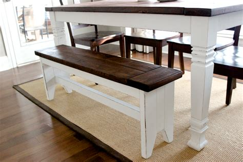 Kitchen Table Bench Plans Free by Traditional Diy Farmhouse Benches Hgtv Of Dining Table