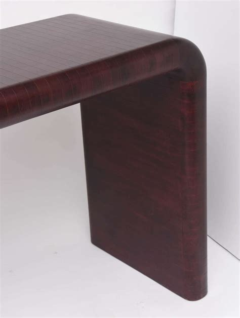 leather console table karl springer leather wrapped console table for sale at