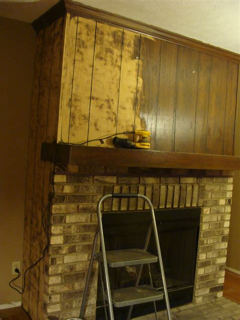 fabtwigs wood paneling fireplace makeover   fill