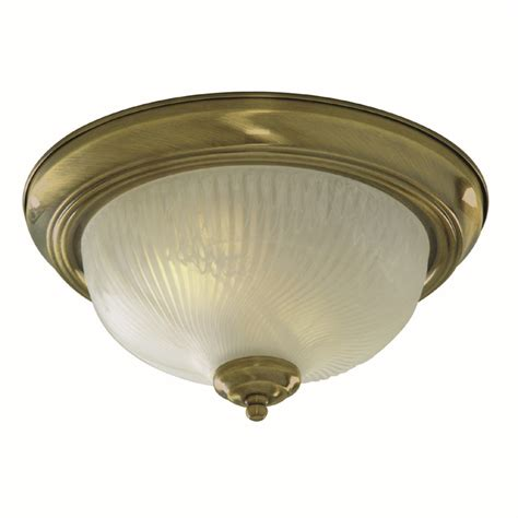 flush ceiling light antique brass