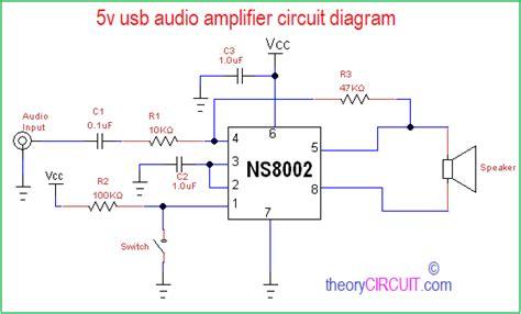 Usb Audio Amplifier Circuit Diagram